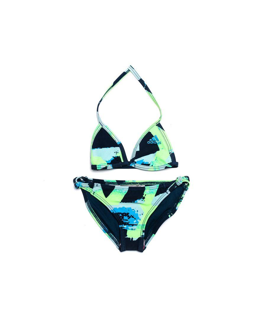 Image for Girl's adidas Infant All Over Print Bikini in Dark Blue