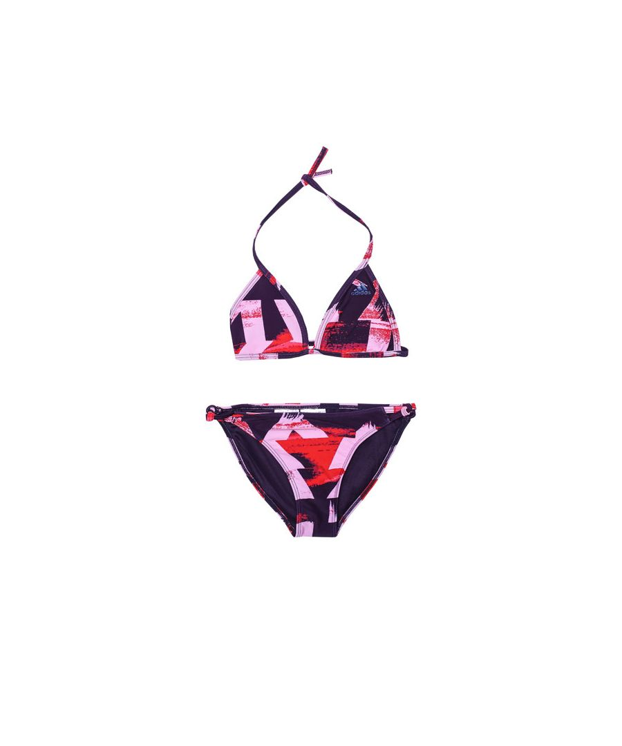 Image for Girl's adidas Infant All Over Print Bikini in Purple