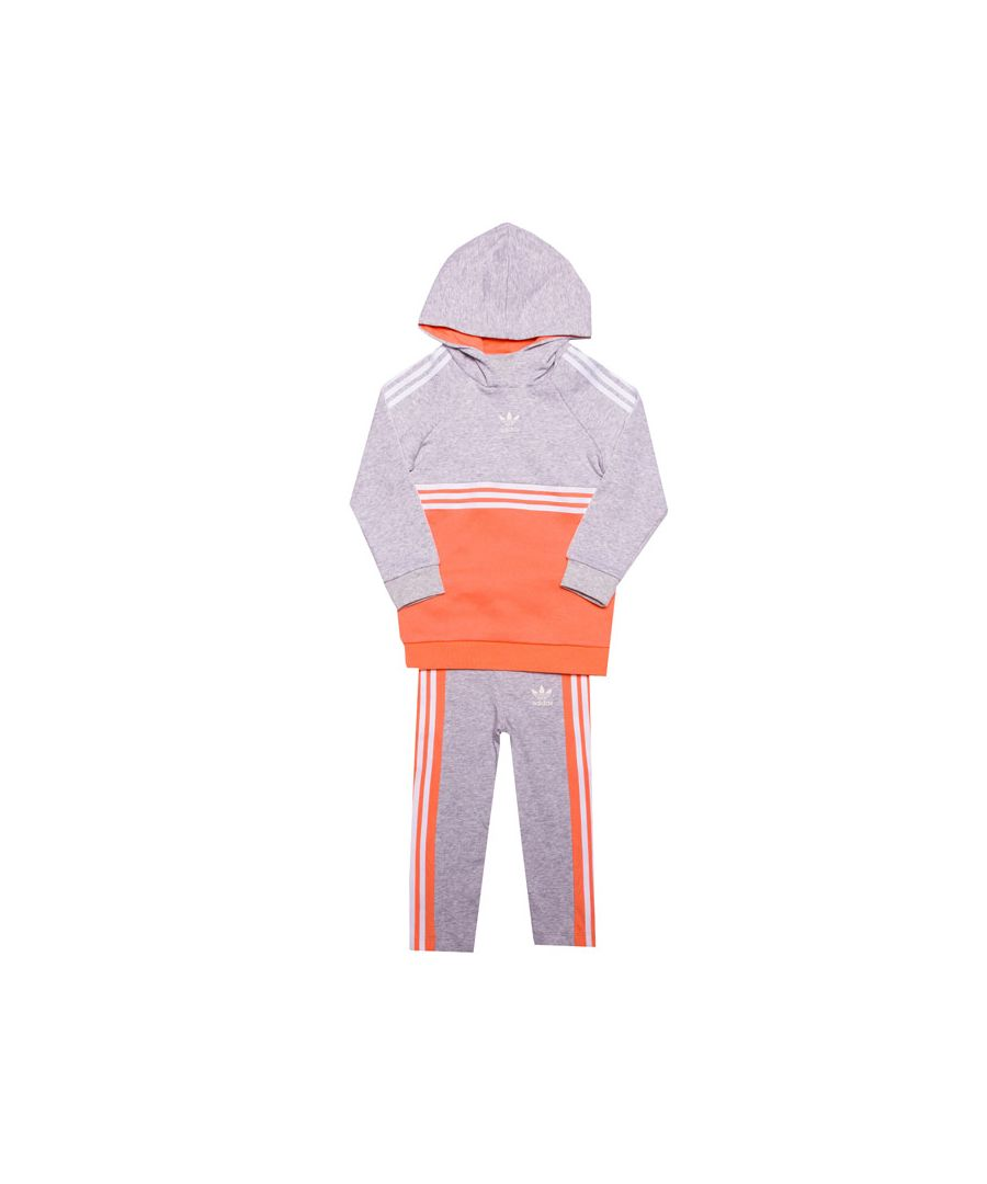 Image for Girl's adidas Originals Infant Authentic Tracksuit in Grey Heather