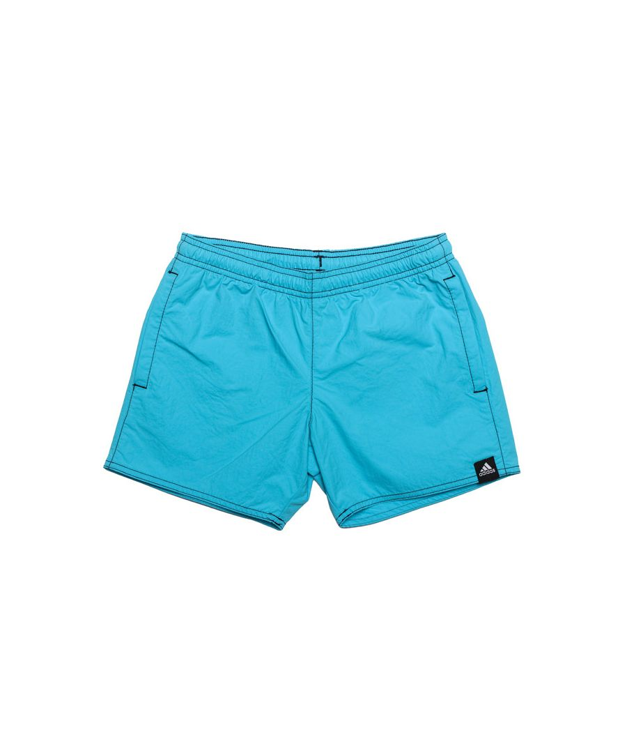 Image for Boy's adidas Junior Solid Shorts in Light Blue