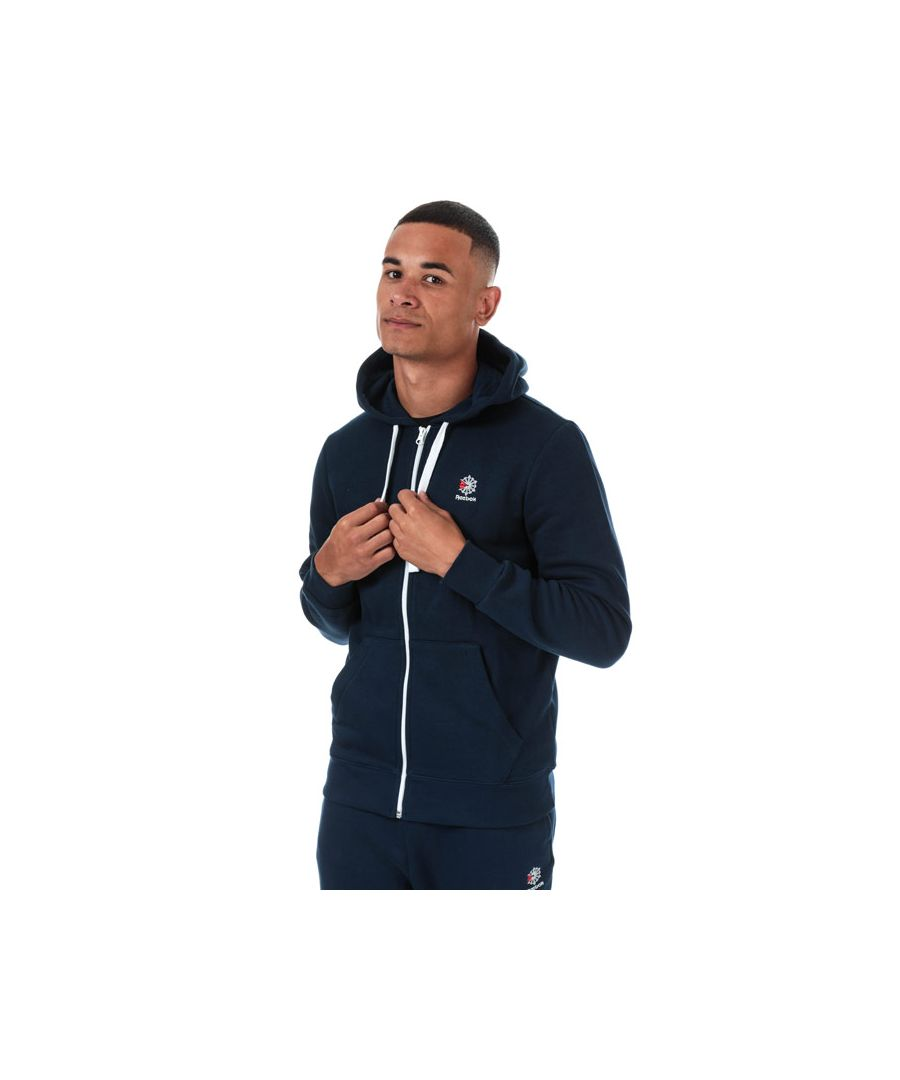 Image for Men's Reebok Classics Classics Fleece Full Zip Hoody in Navy