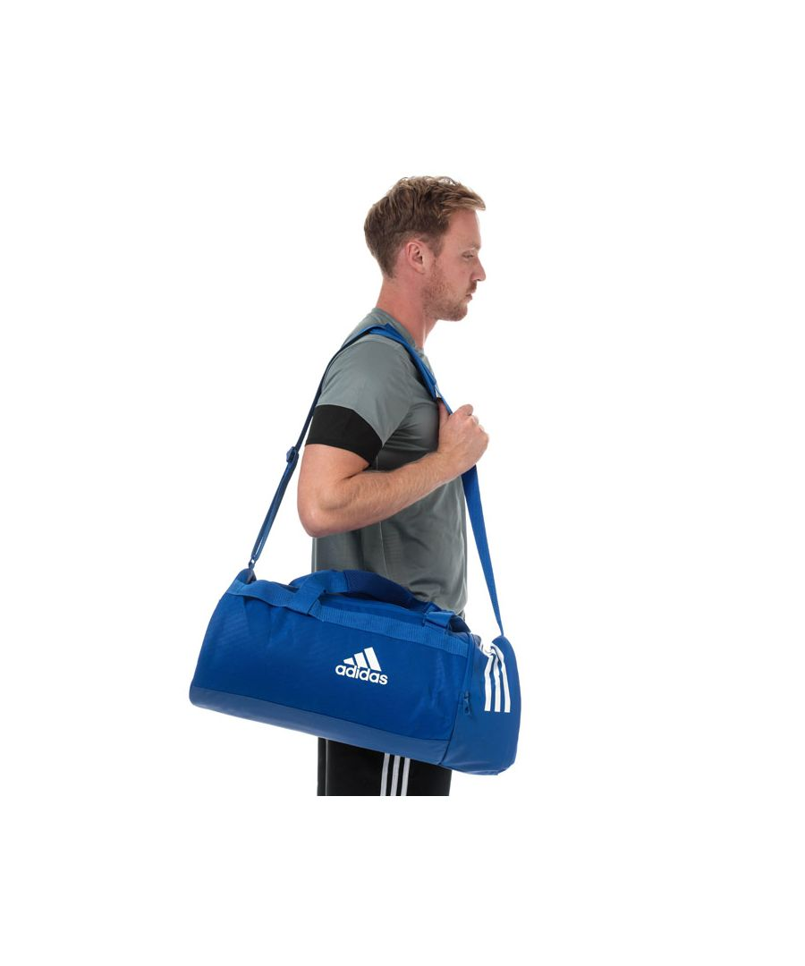 Image for Accessories adidas Convertible 3-Stripes Duffel Bag - Medium in Blue-White