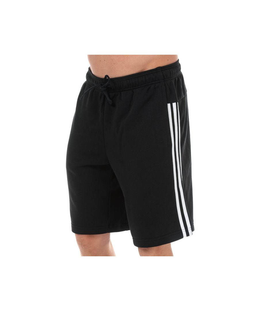 Image for Men's adidas Must Haves 3-Stripes Shorts in Black-White