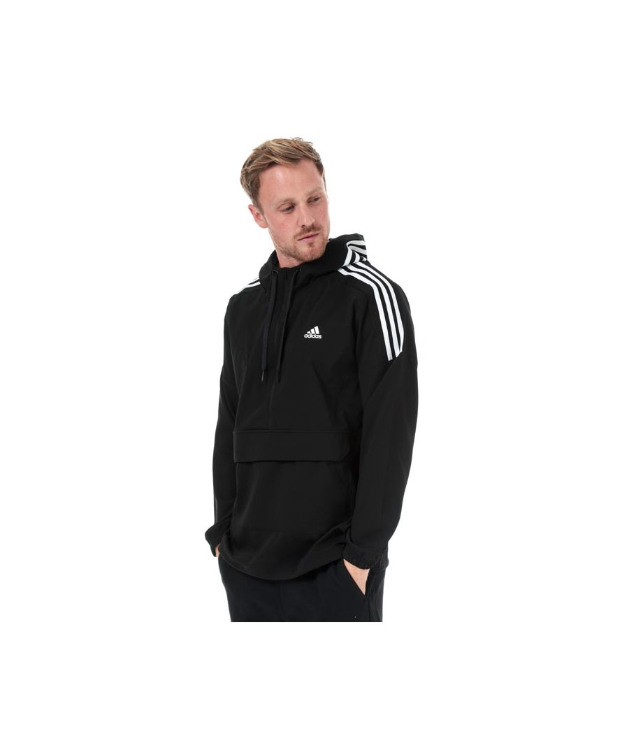 Image for Men's adidas Sport ID Woven Anorak in Black-White