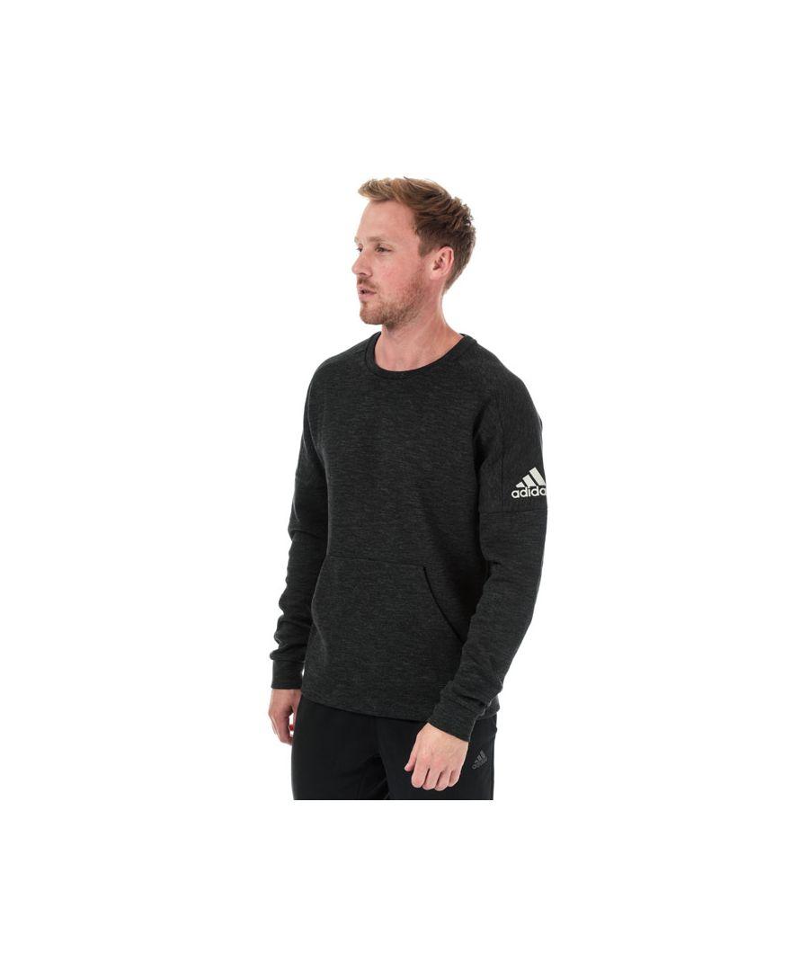 Image for Men's adidas ID Stadium Crew Sweatshirt in Black