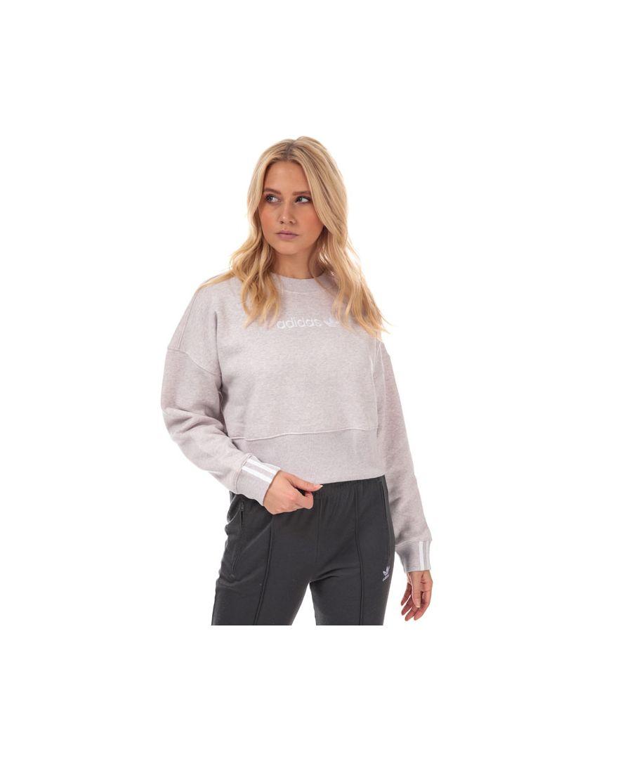 Image for Women's adidas Originals Coeeze Cropped Sweatshirt in Pink