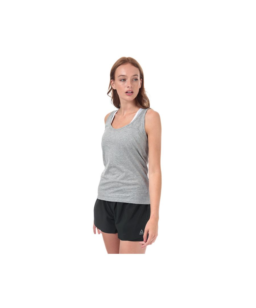 Image for Women's Reebok Racer Tank in Grey Heather