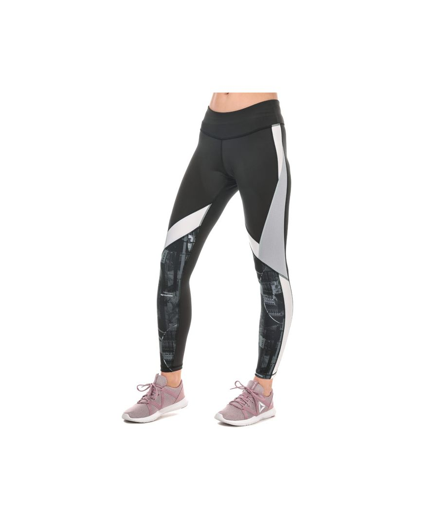 Image for Women's Reebok Workout Meet You There Panelled Tights in Black