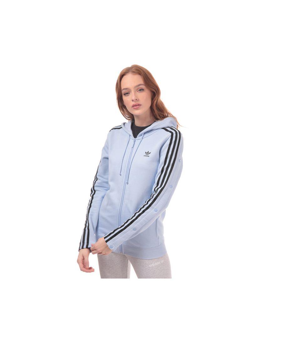 Image for Women's adidas Originals Zip Hoodie in Light Blue