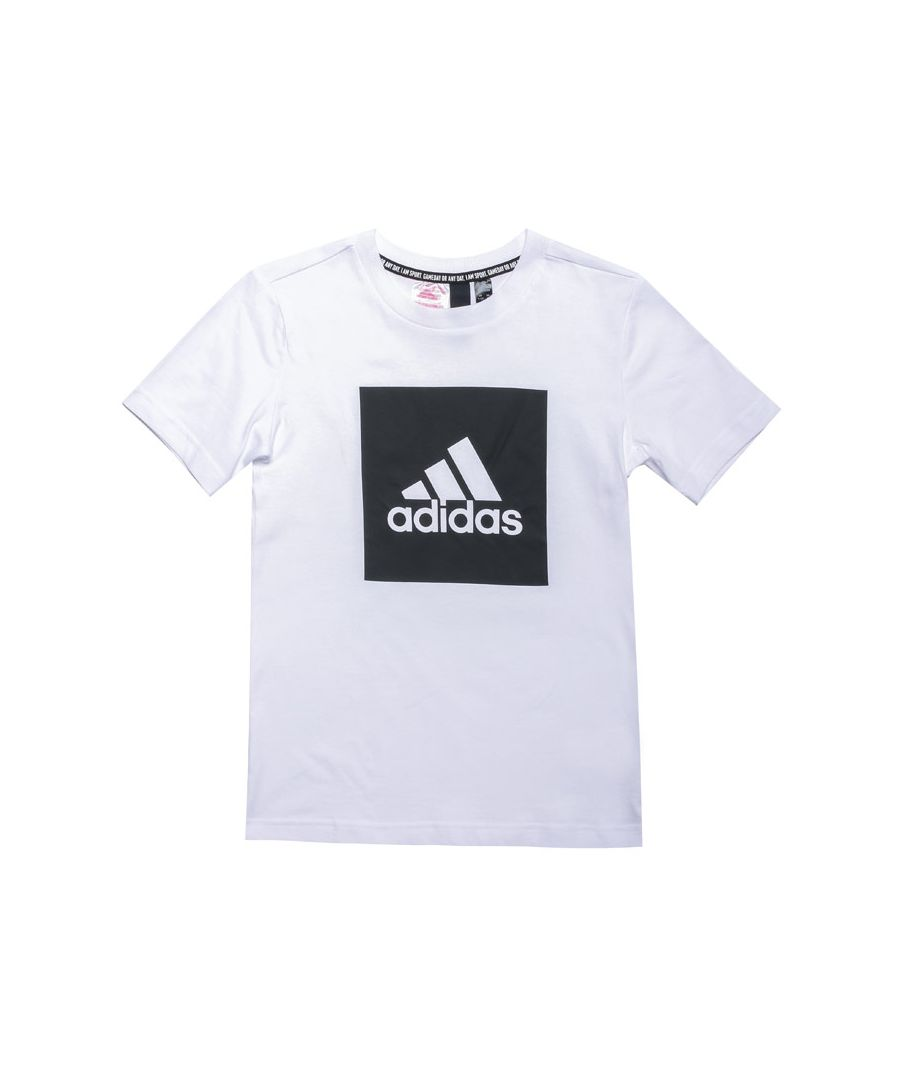 Image for Boy's adidas Junior Must Haves T-Shirt in White Black