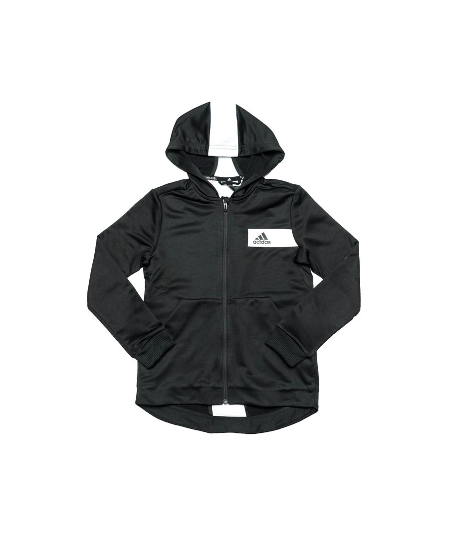 Image for Boy's adidas Junior Free Lift Hoody in Black-White