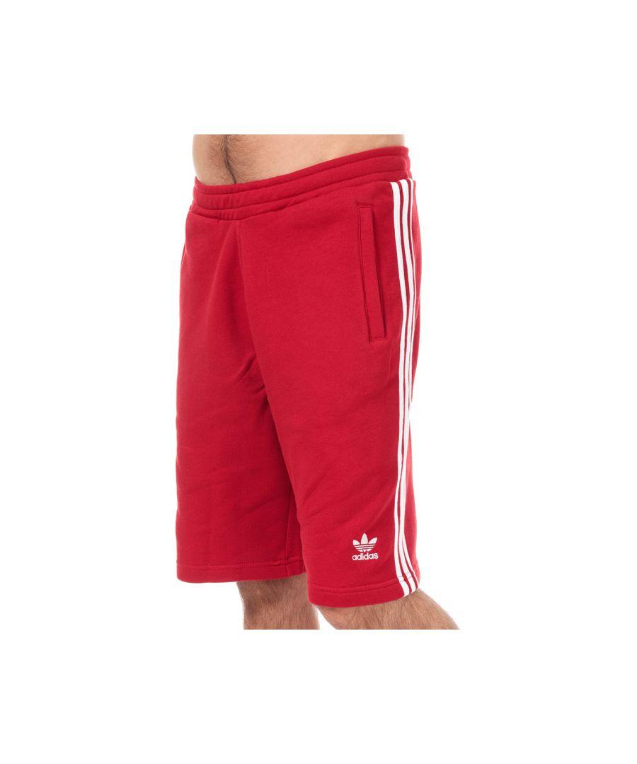 Image for Men's adidas Originals 3-Stripe Shorts in Red