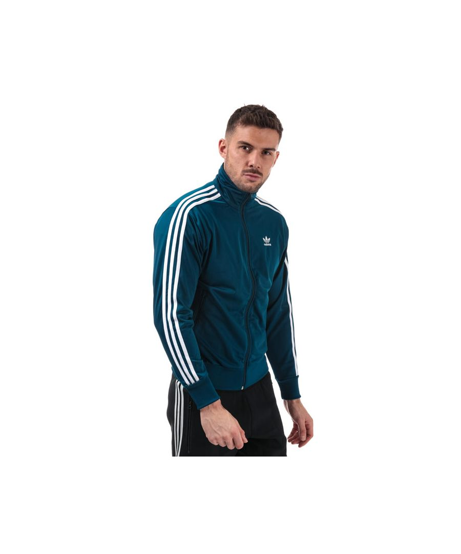 Image for Men's adidas Originals Firebird Track Top in Blue