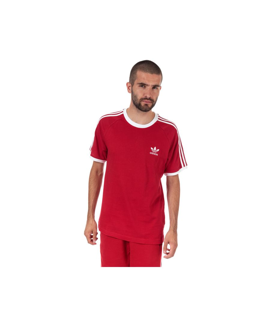 Image for Men's adidas Originals 3-Stripes T-Shirt in Red