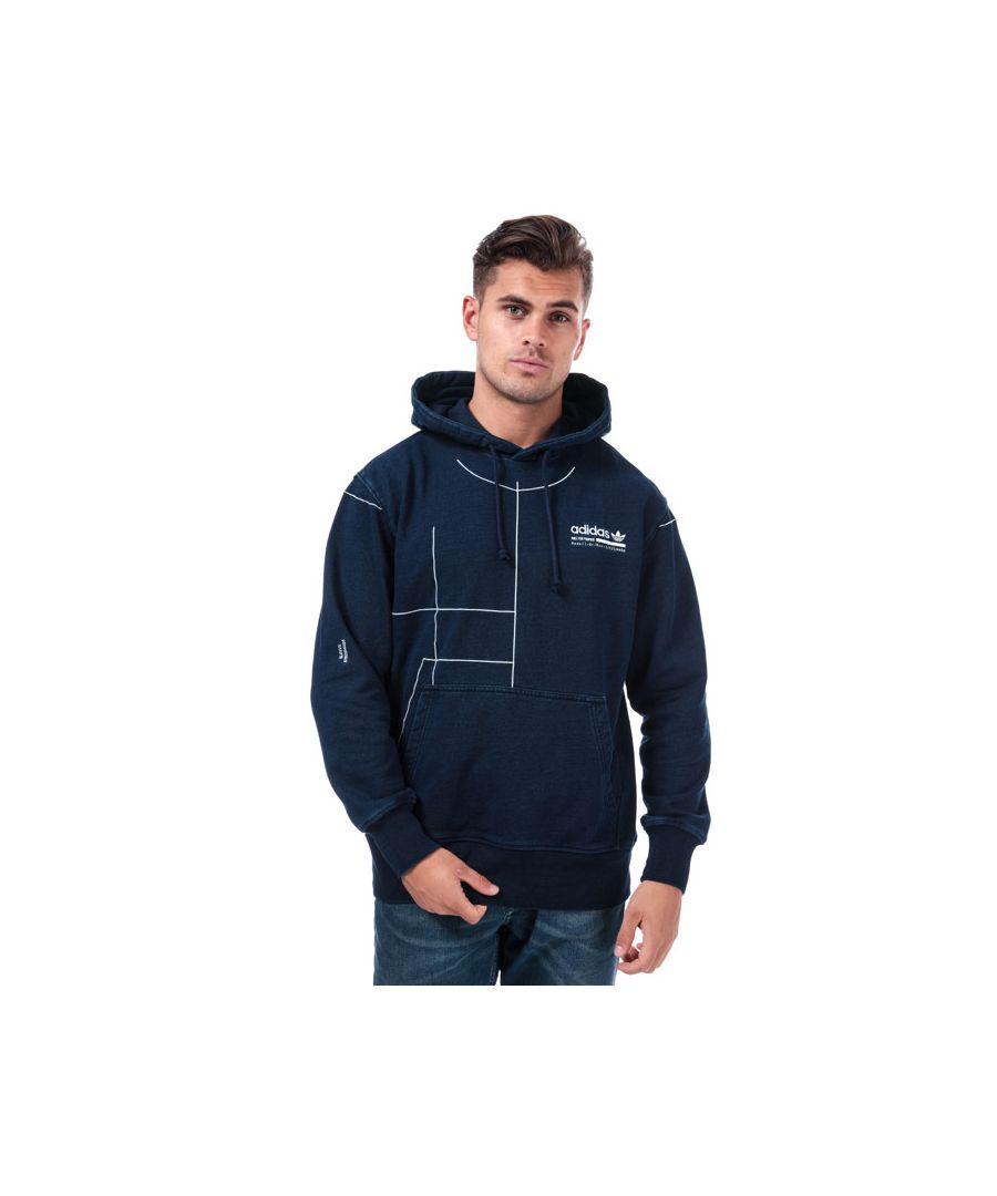 Image for Men's adidas Originals Kaval Graphic Hoody in Navy