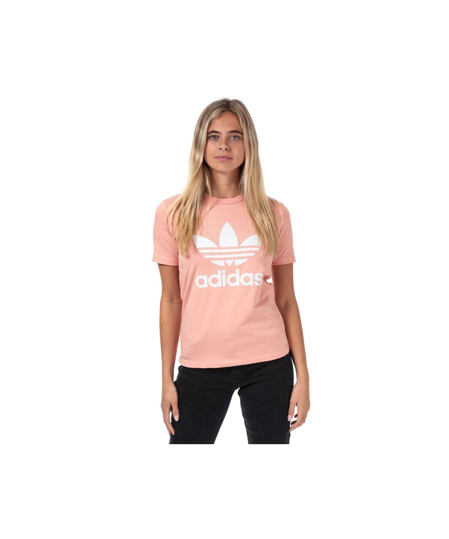 Image for Women's adidas Originals Trefoil T-Shirt in Dusky Pink