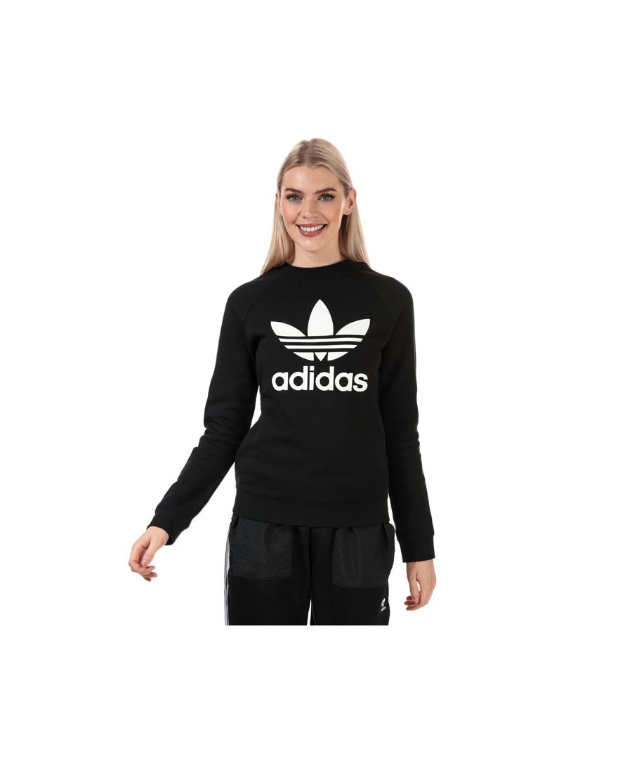 Image for Women's adidas Originals Trefoil Crew Sweatshirt in Black