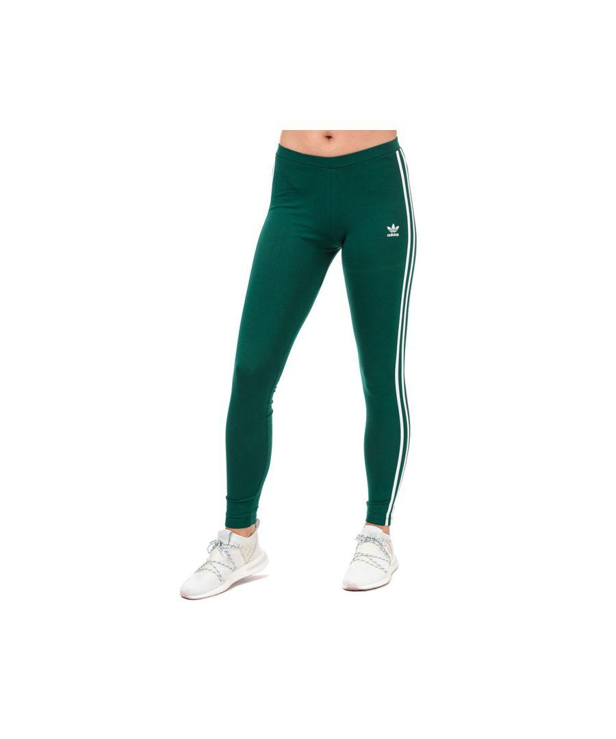 Image for Women's adidas Originals 3-Stripes Leggings in Green