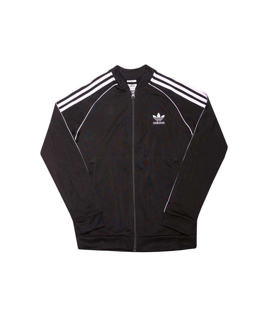 Image for Boys' adidas Originals Junior Superstar Track Top in Black