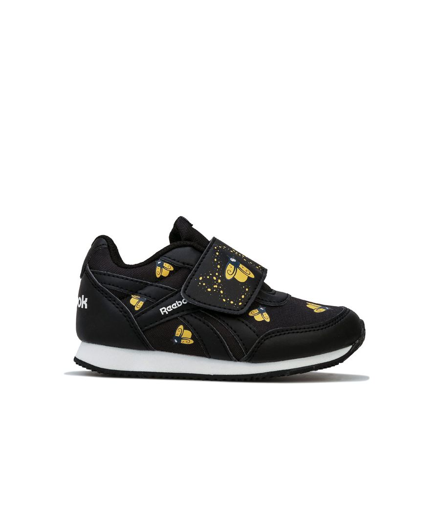 Image for Boy's Reebok Infant Royal CL Jog KC Trainers in Black yellow
