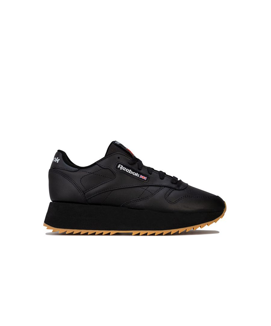 Image for Women's Reebok Classics Classic Leather Double Trainers in Black
