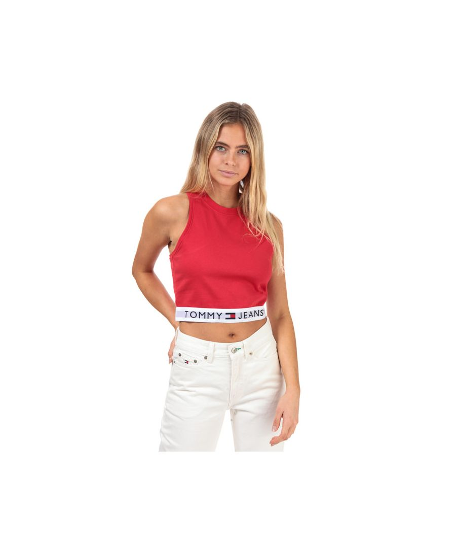 Image for Women's Tommy Hilfiger 90's Waistband Tank Top in Red