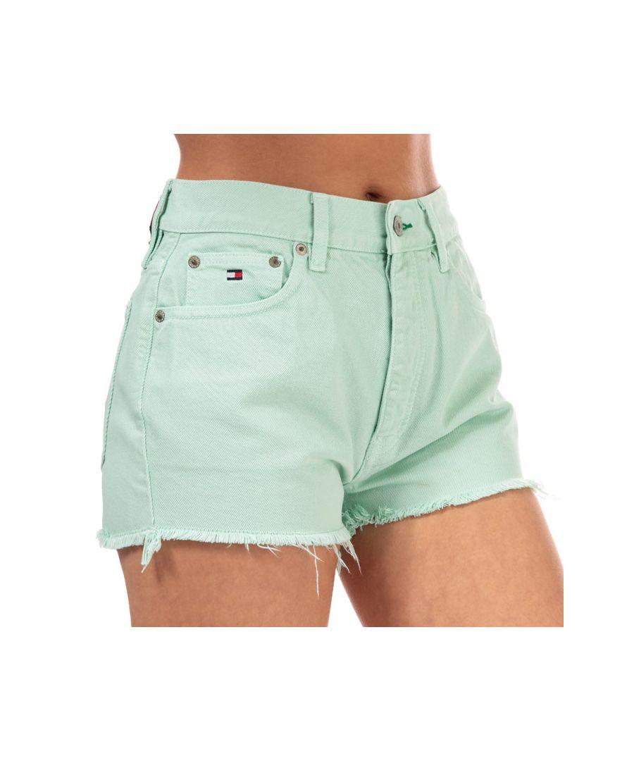 Image for Tommy Hilfiger Women's 90's High Waist Denim Shorts in Denim