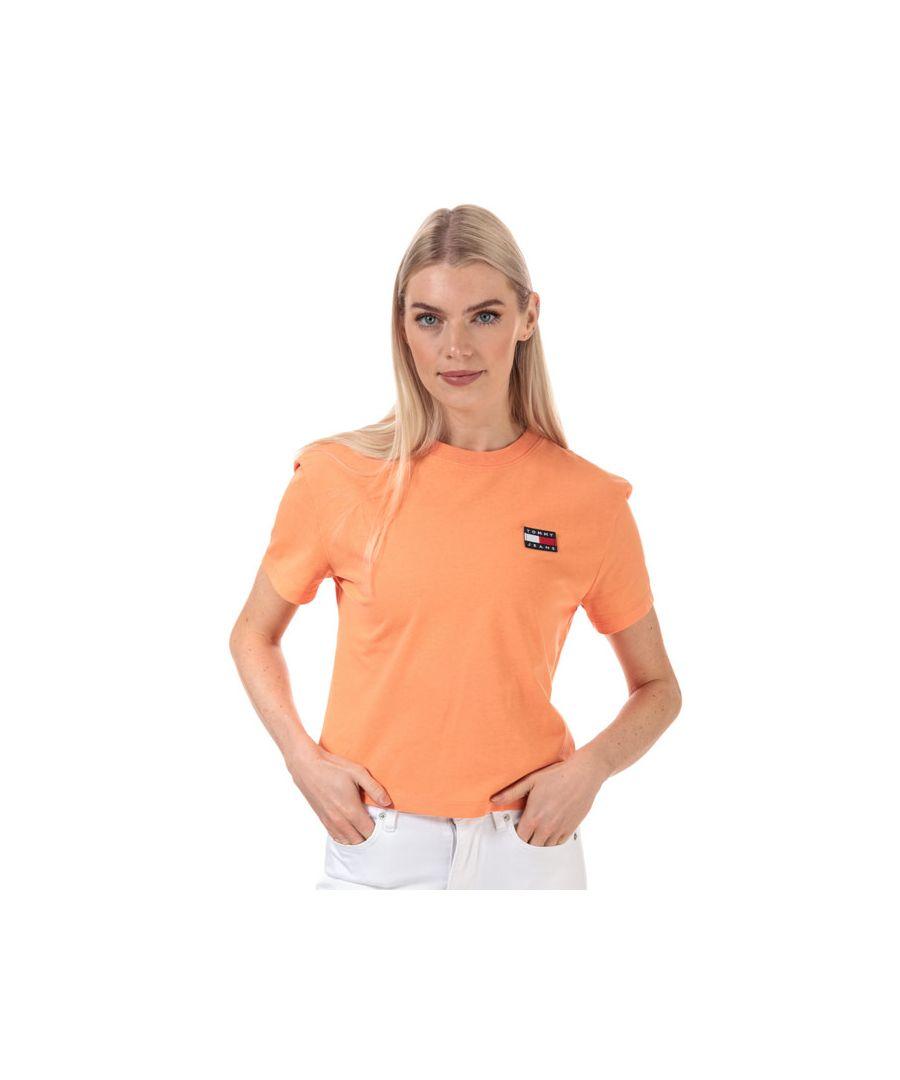 Image for Women's Tommy Hilfiger Tommy Badge T-Shirt in Orange
