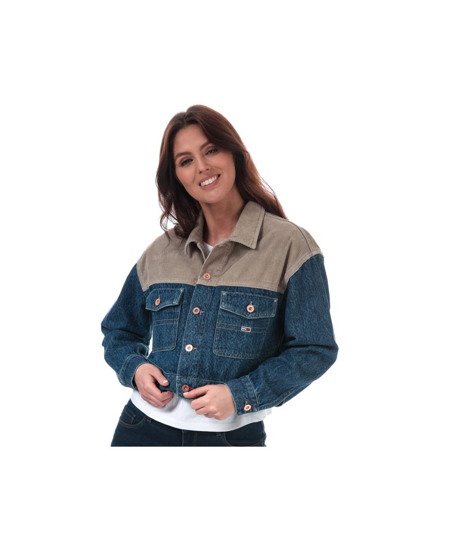 Image for Women's Tommy Hilfiger Cropped Denim Trucker Jacket in Denim