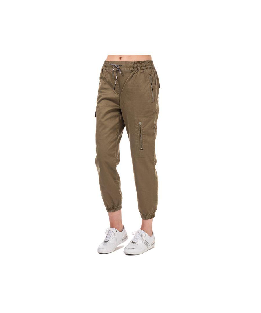 Image for Women's Tommy Hilfiger Cargo Jog Pants in olive