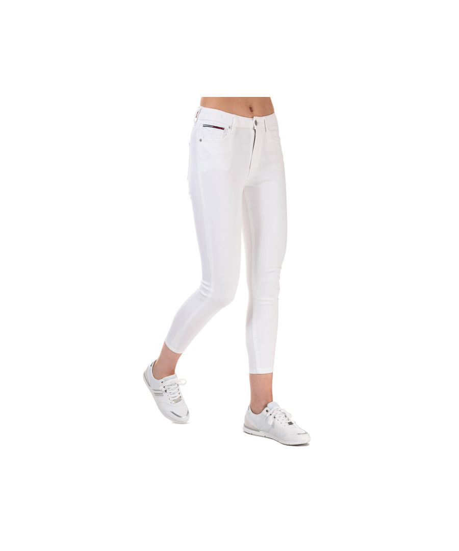 Image for Tommy Hilfiger Women's Sylvia High Rise Super Skinny Ankle Jeans in White