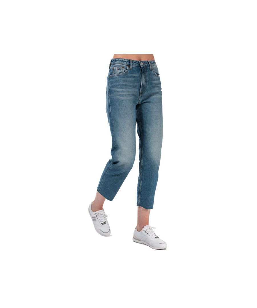 Image for Tommy Hilfiger Women's Harper Straight Fit Stonewashed Jeans in Denim