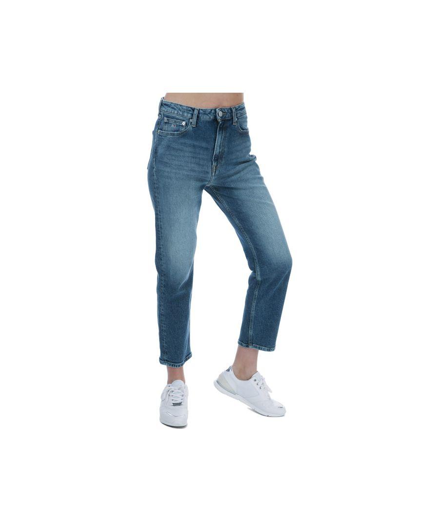 Image for Women's Tommy Hilfiger Harper High Rise Straight Ankle Jeans Light Blue 30Sin Light Blue