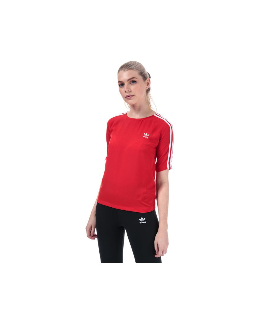Image for Women's adidas Originals 3-Stripes T-Shirt in Red