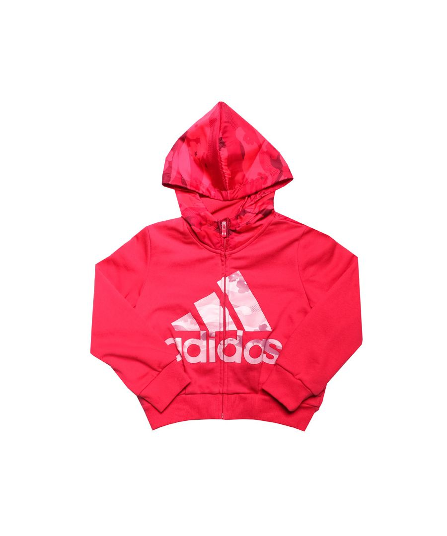 Image for Girl's adidas Infant Fitted Hoody Zip in Pink