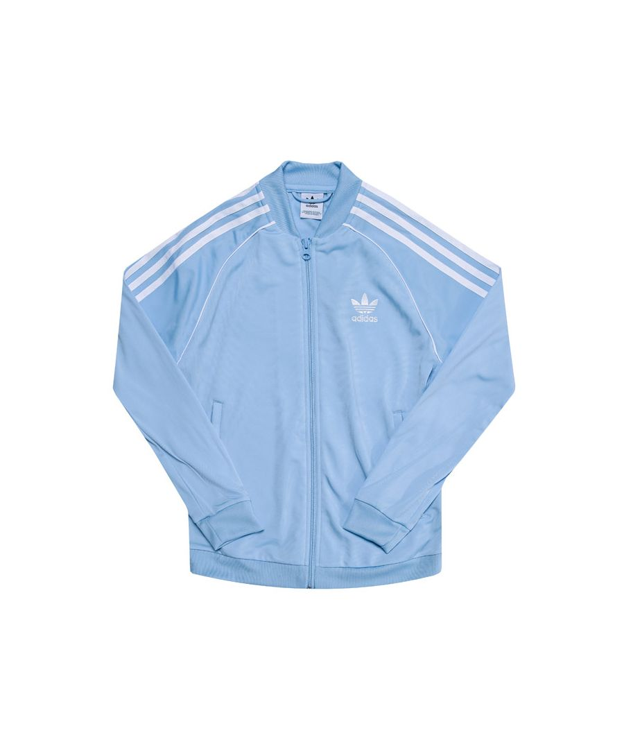 Image for Boy's adidas Originals Junior Superstar Track Top in Light Blue