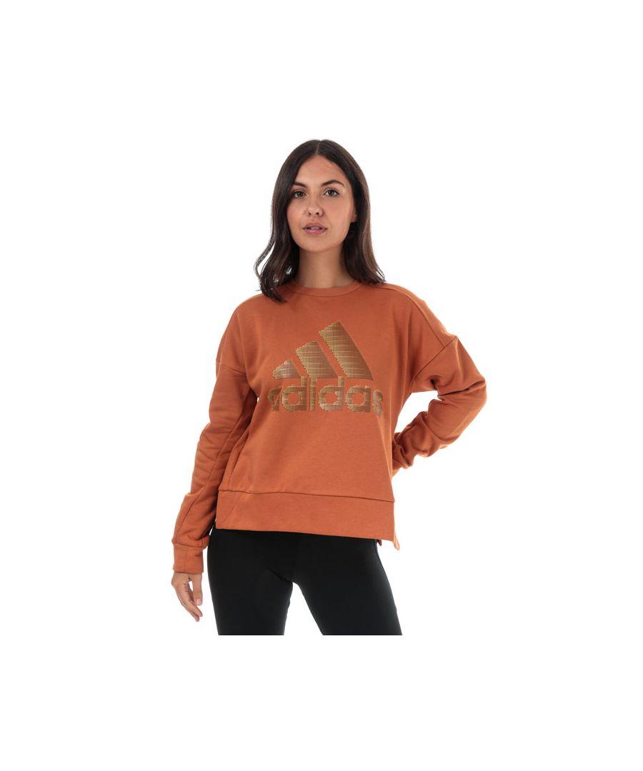 Image for Women's adidas ID Glam Crew Sweatshirt in Copper