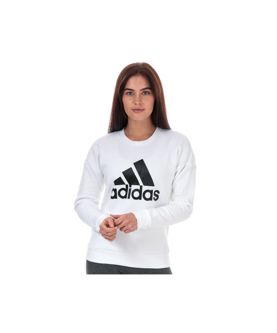 Image for Women's adidas Must Haves Bos Crew Sweatshirt in White