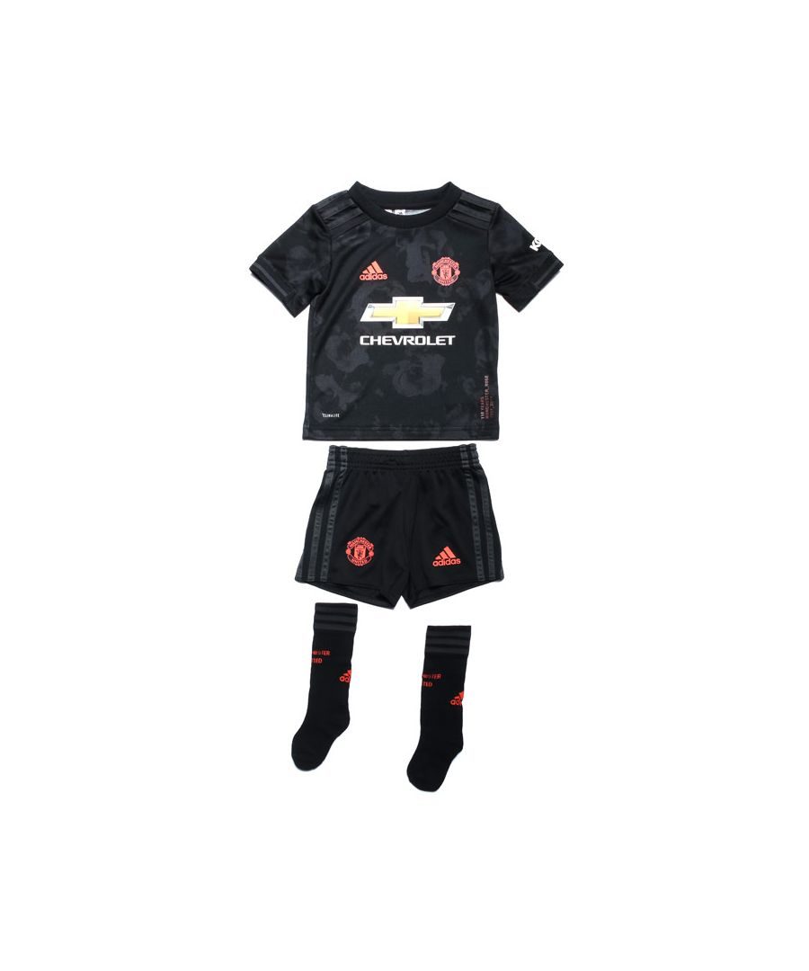 Image for Boy's adidas Infant Manchester United Third Mini Kit in Black