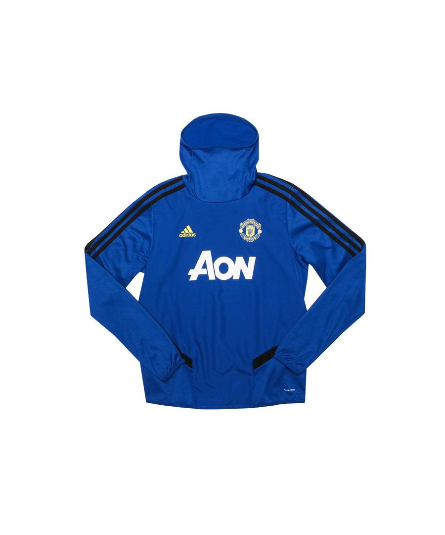 Image for Boy's adidas Junior MUFC Warm Up Training Top in Royal Blue