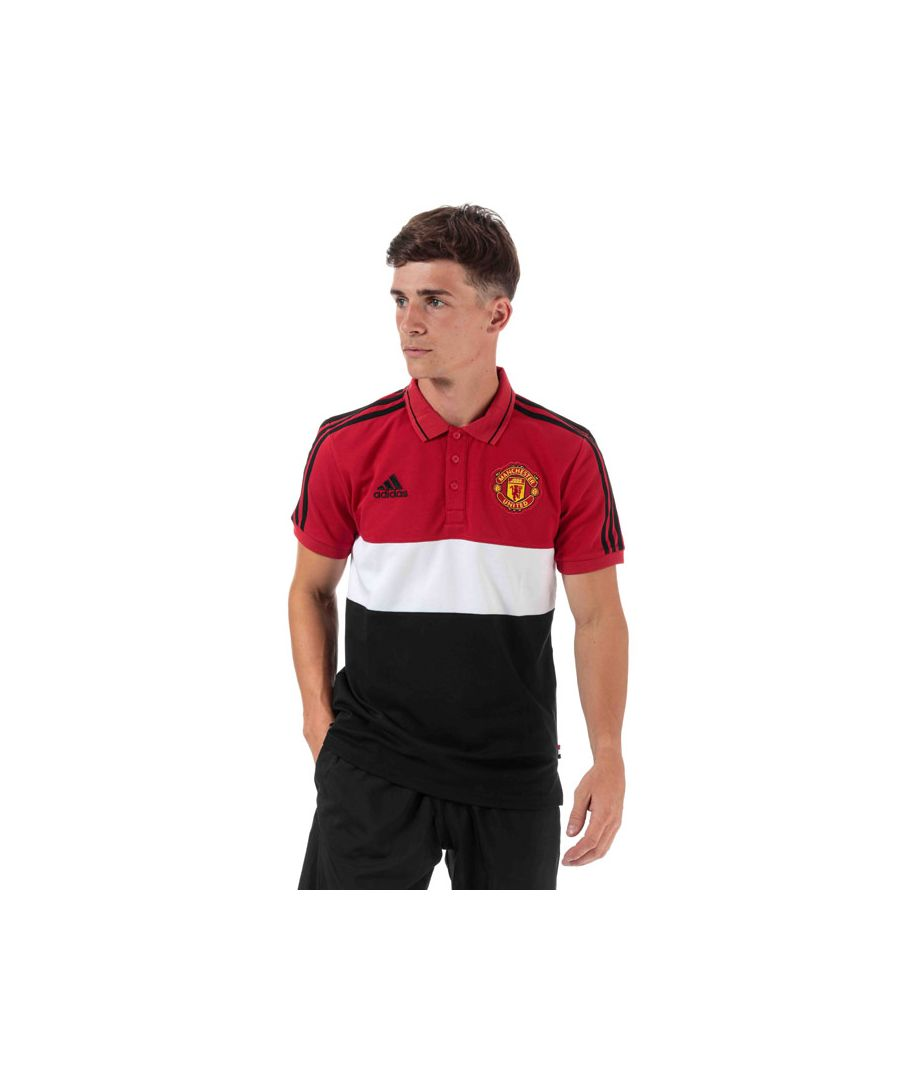 Image for Men's adidas Manchester United Polo Shirt in red white
