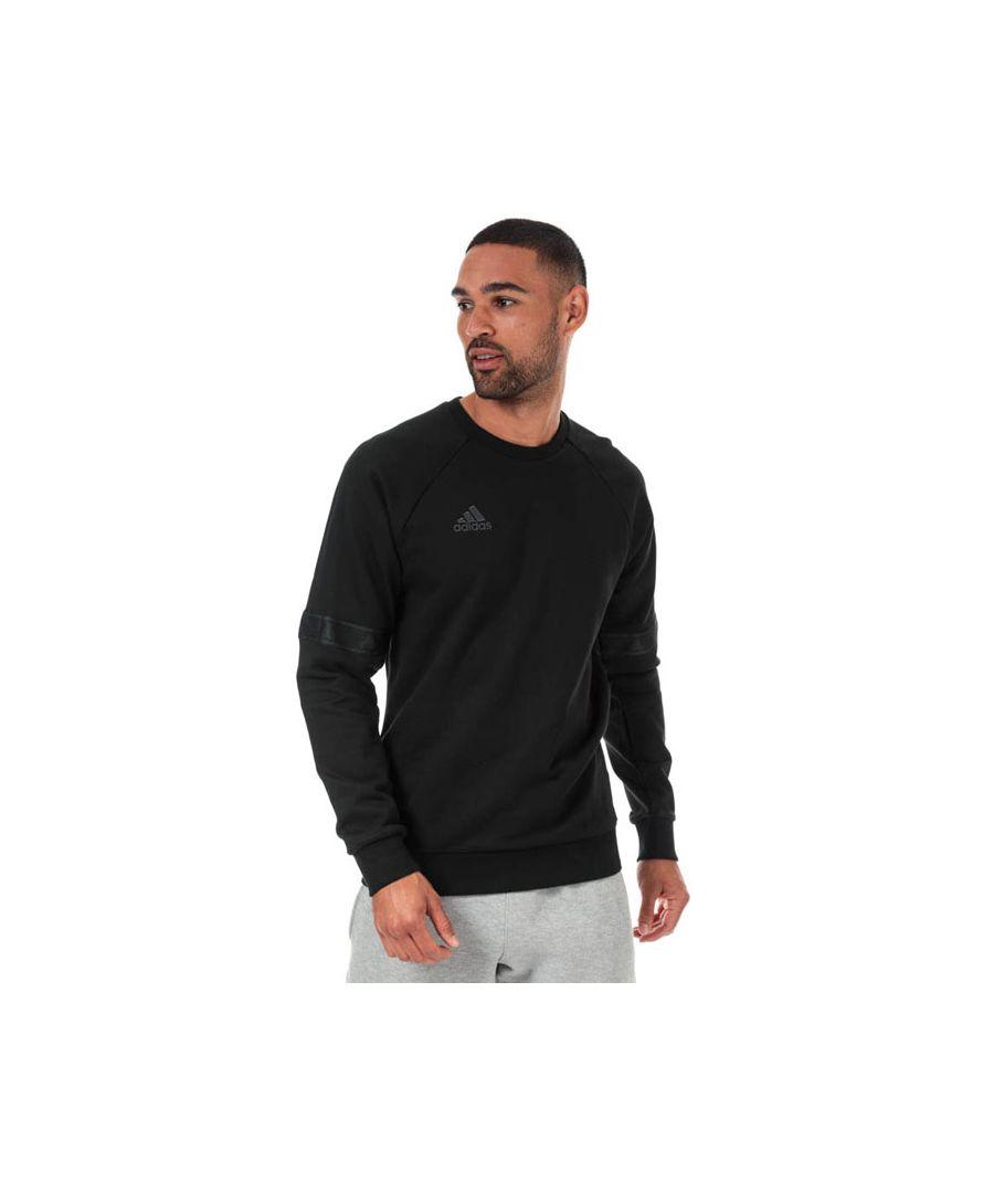 Image for Men's adidas Originals TAN Heavy Crew Sweatshirt in Black