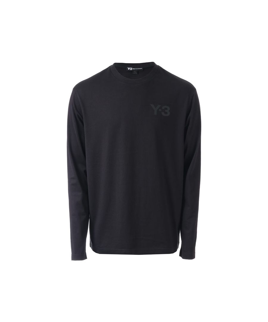 Image for Men's Y-3 Classic Logo Long Sleeve T-Shirt in Black