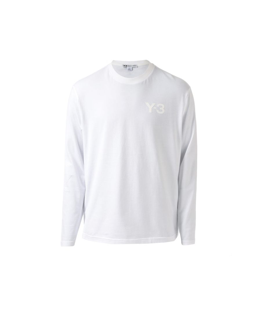 Image for Men's Y-3 Classic Logo Long Sleeve T-Shirt in White