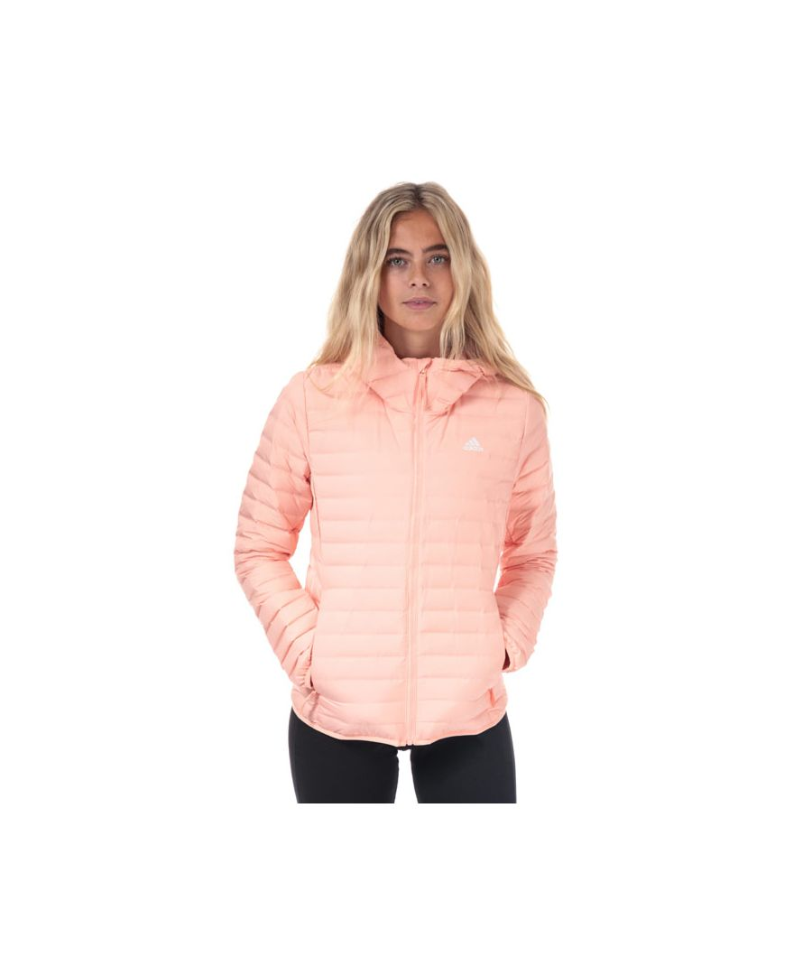 Image for Women's adidas Varilite Soft Hooded Down Jacket in Pink