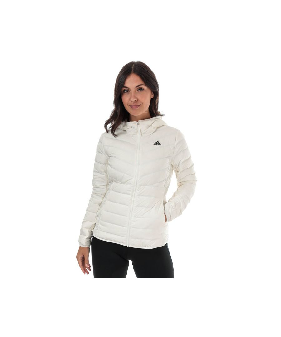 Image for Women's adidas Varilite 3-Stripes Hooded Down Jacket in White
