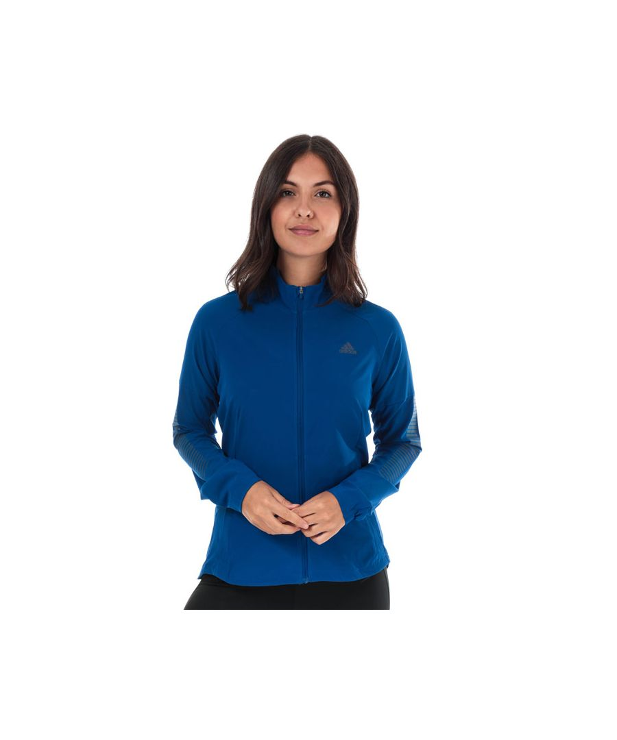 Image for Women's adidas Rise Up N Run Jacket in Royal Blue