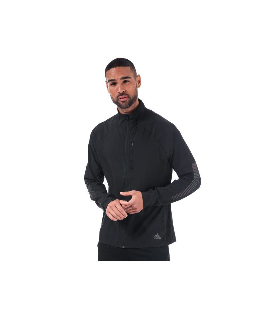 Image for Men's adidas Rise Up N Run Jacket in Black