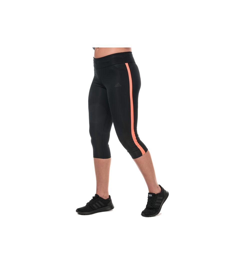 Image for Women's adidas Own The Run 3 Quarter Leggings in Black