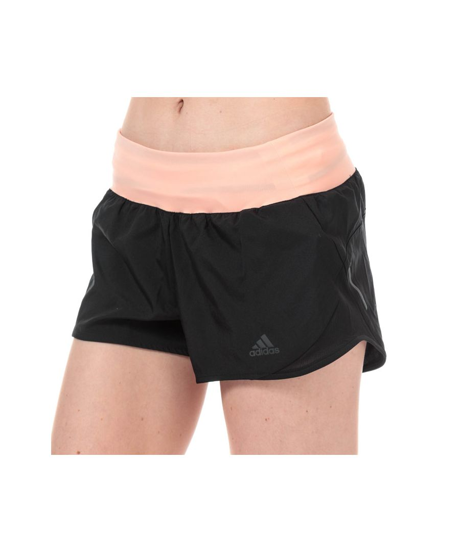 Image for Women's adidas Run It 3 Inch Shorts in black pink